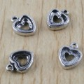 1 stk. Tibet silver Heart frame charms. 13 mm.