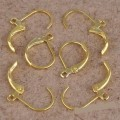 1 stk. Gold plated french earring lobster clasps fastener hooks. 16 mm.