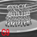 1 stk. 925 Sterling silver pinch bail earring hooh wire. 26 mm.
