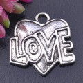 1 stk. Tibet silver Heart charms. 18 mm.