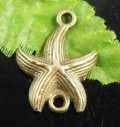 1 stk. Bronze plated Starfish connectors. 23 mm.