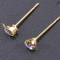 1 stk. Gold plated crystal pins. 14 mm.