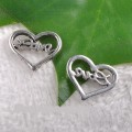 1 stk. Tibet silver Heart charms. 10 mm.