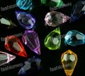 1 stk. Mix color facet plastic transparent Teaedrop charms. 15 mm.