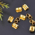 20 stk. Gold plated earring nuts. 3 mm.