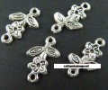 1 stk. Tibet silver connectors. 16 mm.