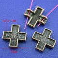 1 stk. Copper tone cross charms. 15 mm.
