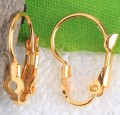 1 stk. Gold plated earring clasps. 20 mm.