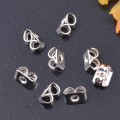 20 stk. Silver plated earring nuts. 3 mm.