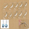 1 stk. 925 Sterling silver pinch bail hooks earwires. 27 mm.