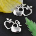 1 stk. Tibet silver Heart charms. 12 mm.