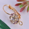 1 stk. Gold plated nice crystal earring. 24 mm.