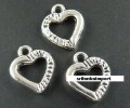 1 stk. Tibet silver Heart charms. 15 mm.