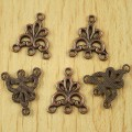 1 stk. Copper tone flower connectors. 19 mm.