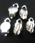 1 stk. Silver plated earring clasps. 16 mm.