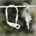 1 stk. Silver color lever back earring hook earwire. 17 mm.